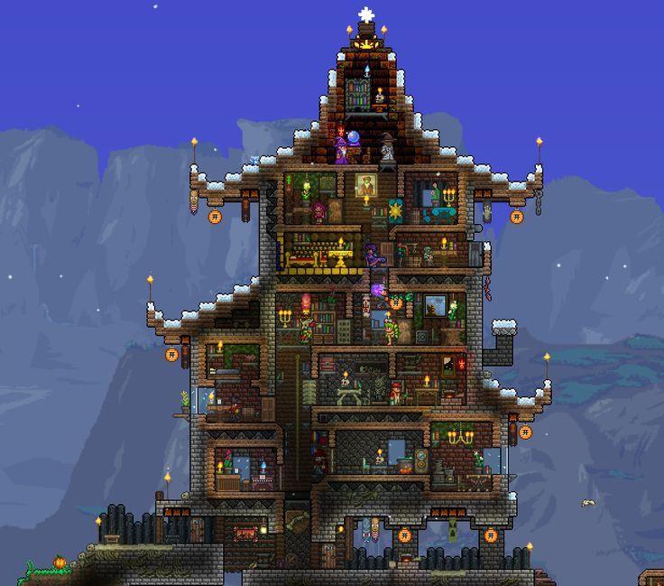 Minecraft House Designs Ideas Latest Version Apk: Pin By Jaskirat Singh On Terraria