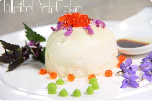 White fish cake