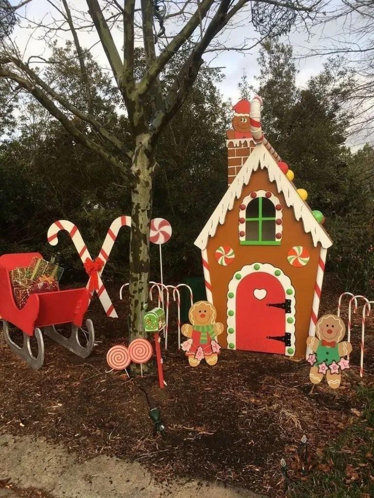 59 Diy Outdoor Christmas Decor On A Budget Blogger Creative Christmas Yard Decorations Outside Christmas Decorations Christmas Decorations Diy Outdoor
