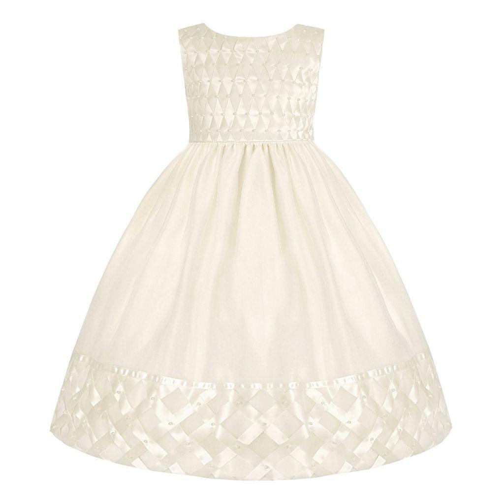 411e330986a Girls 7-16   Plus Size American Princess Basketweave Dress
