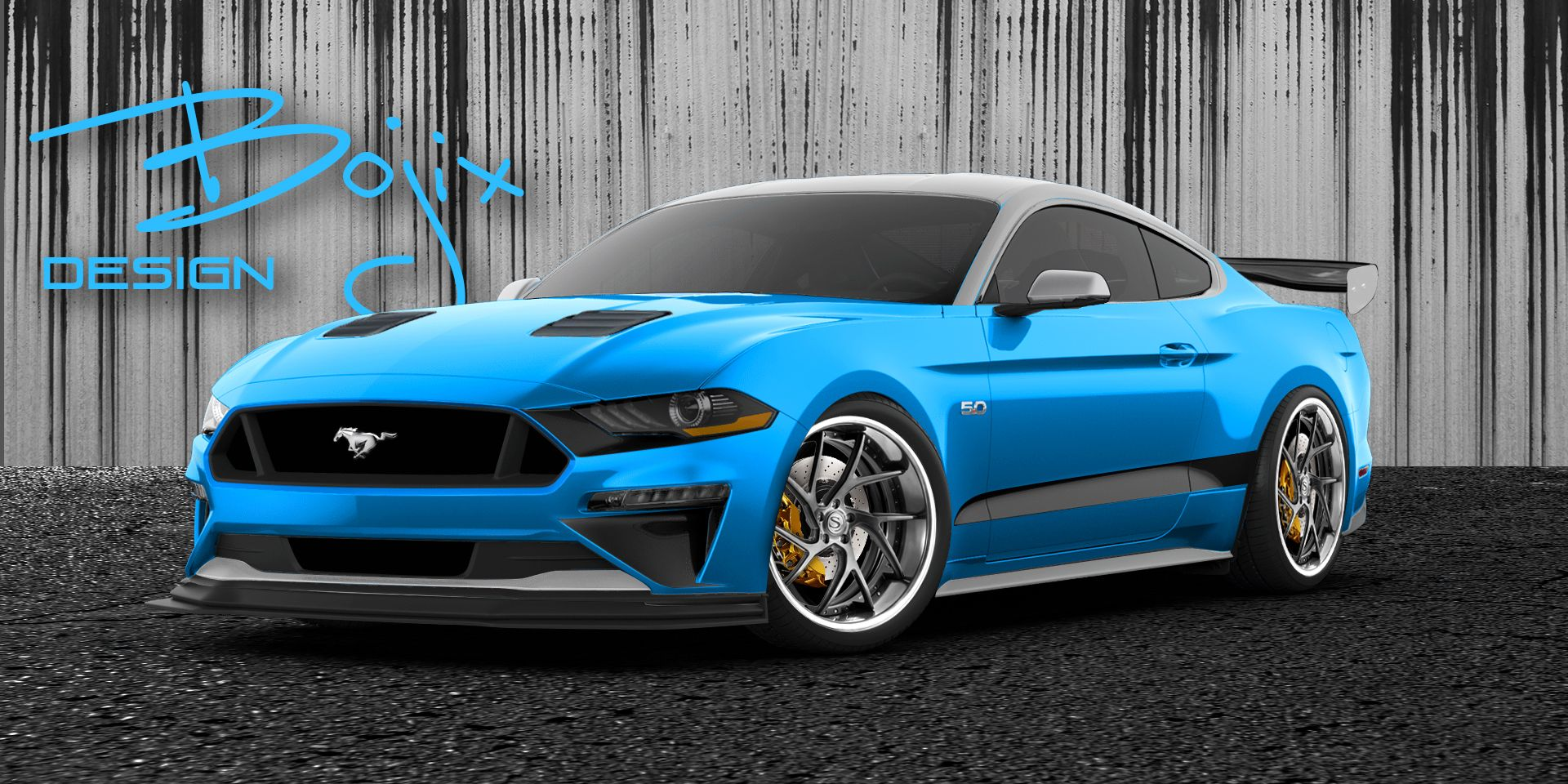 2018 Ford Mustang Gt By Bojix Design Ford Mustang Coupe Ford