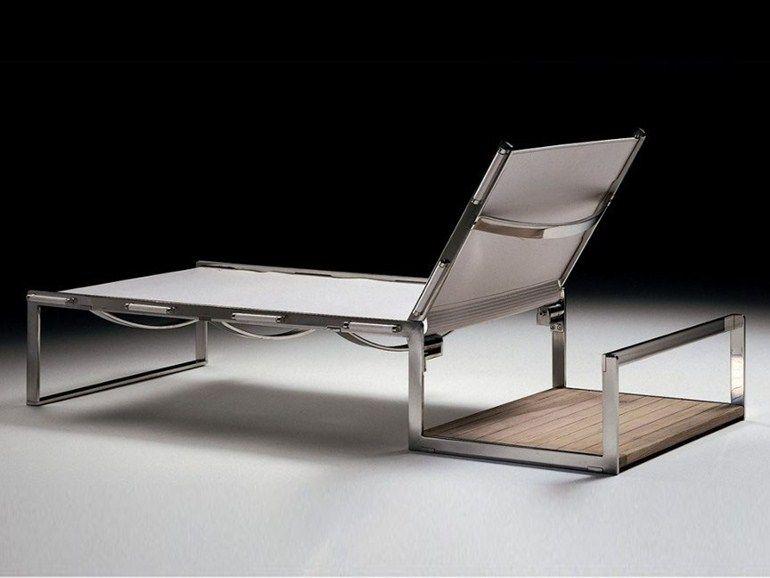 Chaise longue en cuir tannée Collection Air by FLEXFORM | design Antonio Citterio