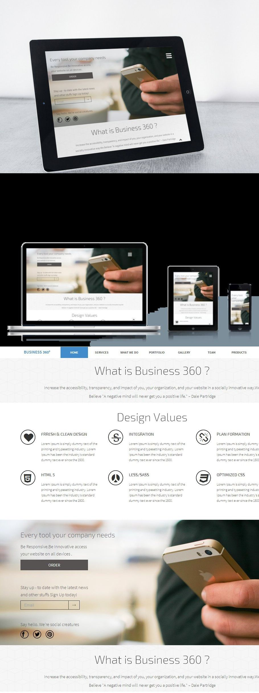 Business 360 Responsive Template In 2020 Web Graphic Design Templates Web Themes