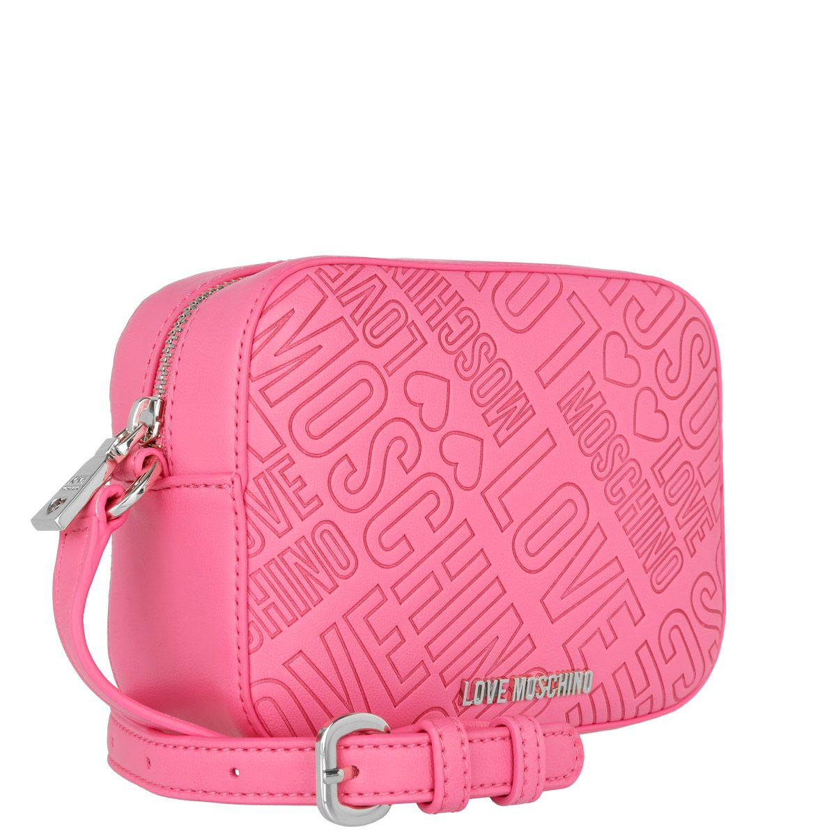 Love Moschino Embossed Crossbody Pink Magenta at Fashionette