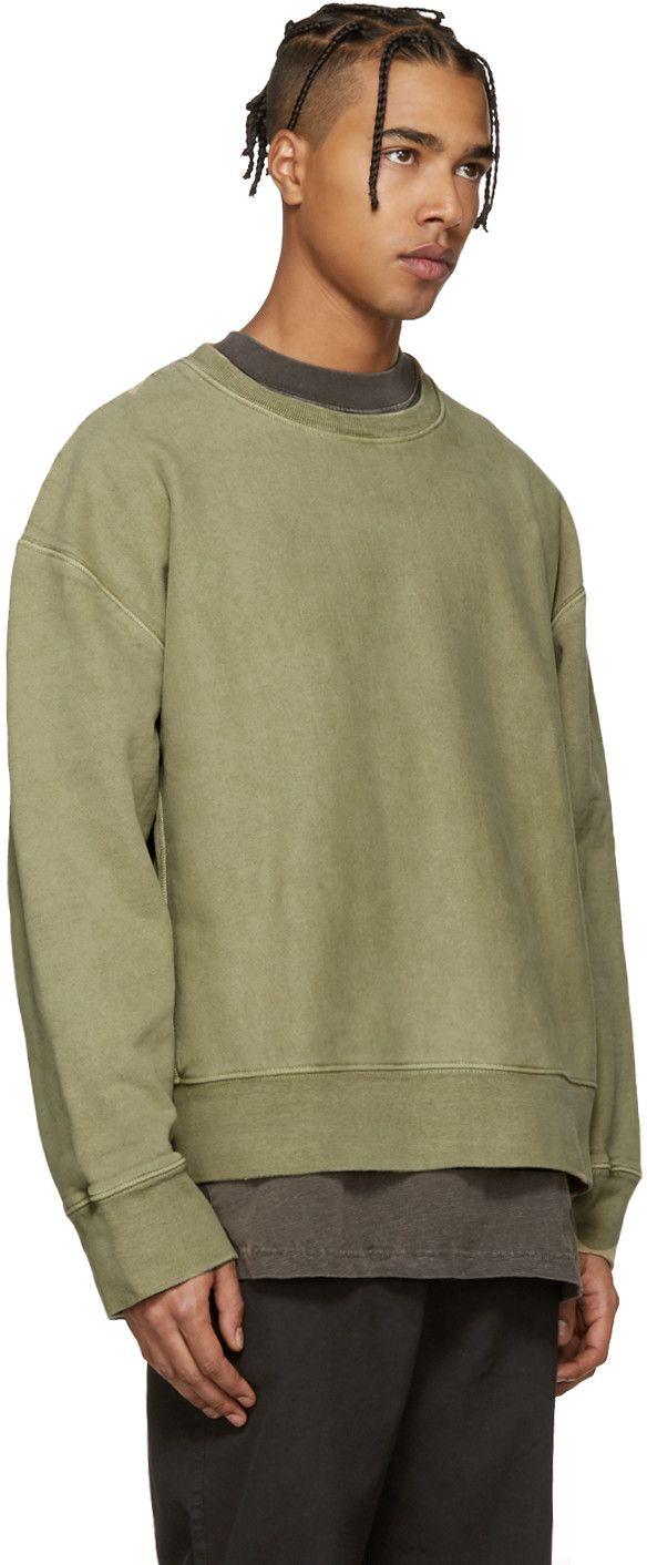Yeezy Season 3 Green Crewneck Sweatshirt Green Crewneck Yeezy Yeezy Season 3 [ 1412 x 584 Pixel ]