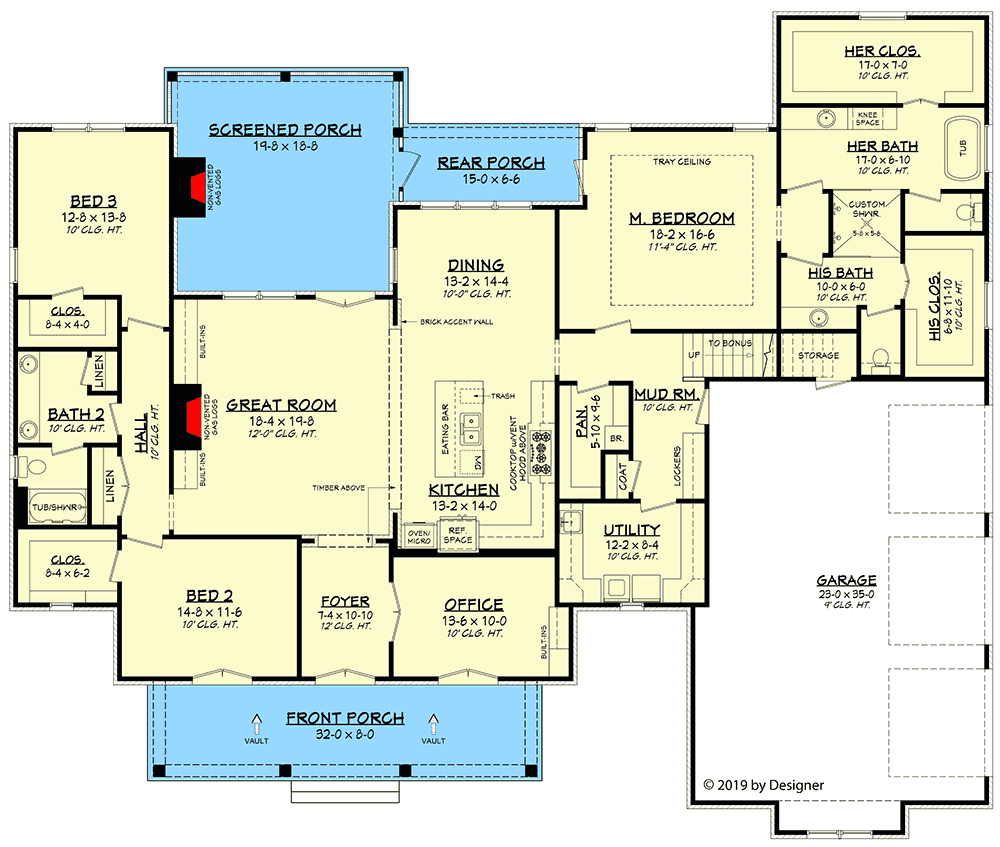 Plan 51802hz Charming Southern Home Plan With Optional Bonus Room Southern House Plans House Plans Southern Homes