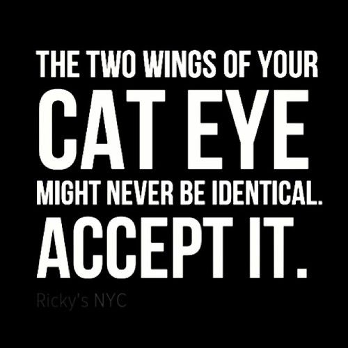 Ladies The Two Wings Of Your Cat Eye Liner Might Never Be