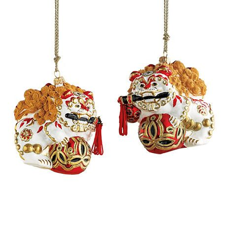 Gumps Collectible Foo Dog Christmas Ornament Set Pretty darned ...