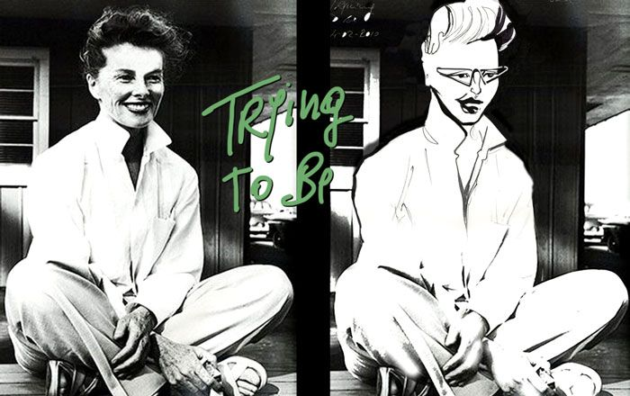 Changing Faces: Venette Waste trys to be Katharine Hepburn