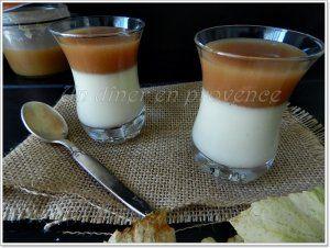 Panna cotta chocolat blanc et caramel beurre salé