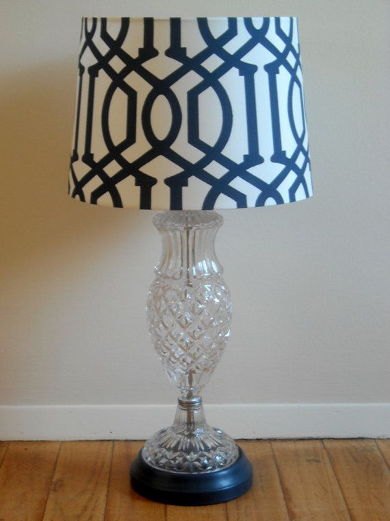 Vintage crystal lamp made over with chalk paint by annie sloan