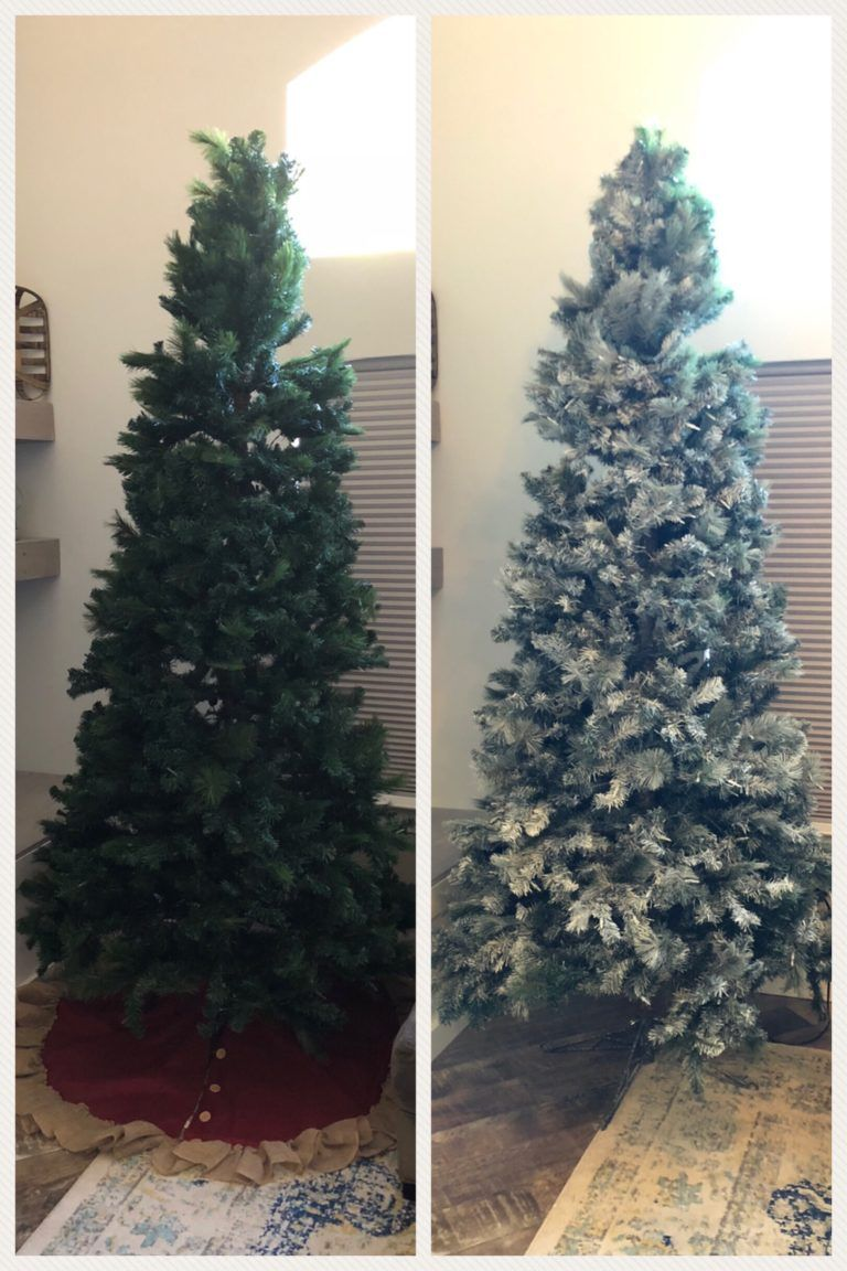 How to DIY Flocked Christmas Tree with Chalk Paint tribe