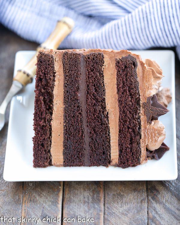 Chocolate Fudge Layer Cake 6 layers of pure chocolate