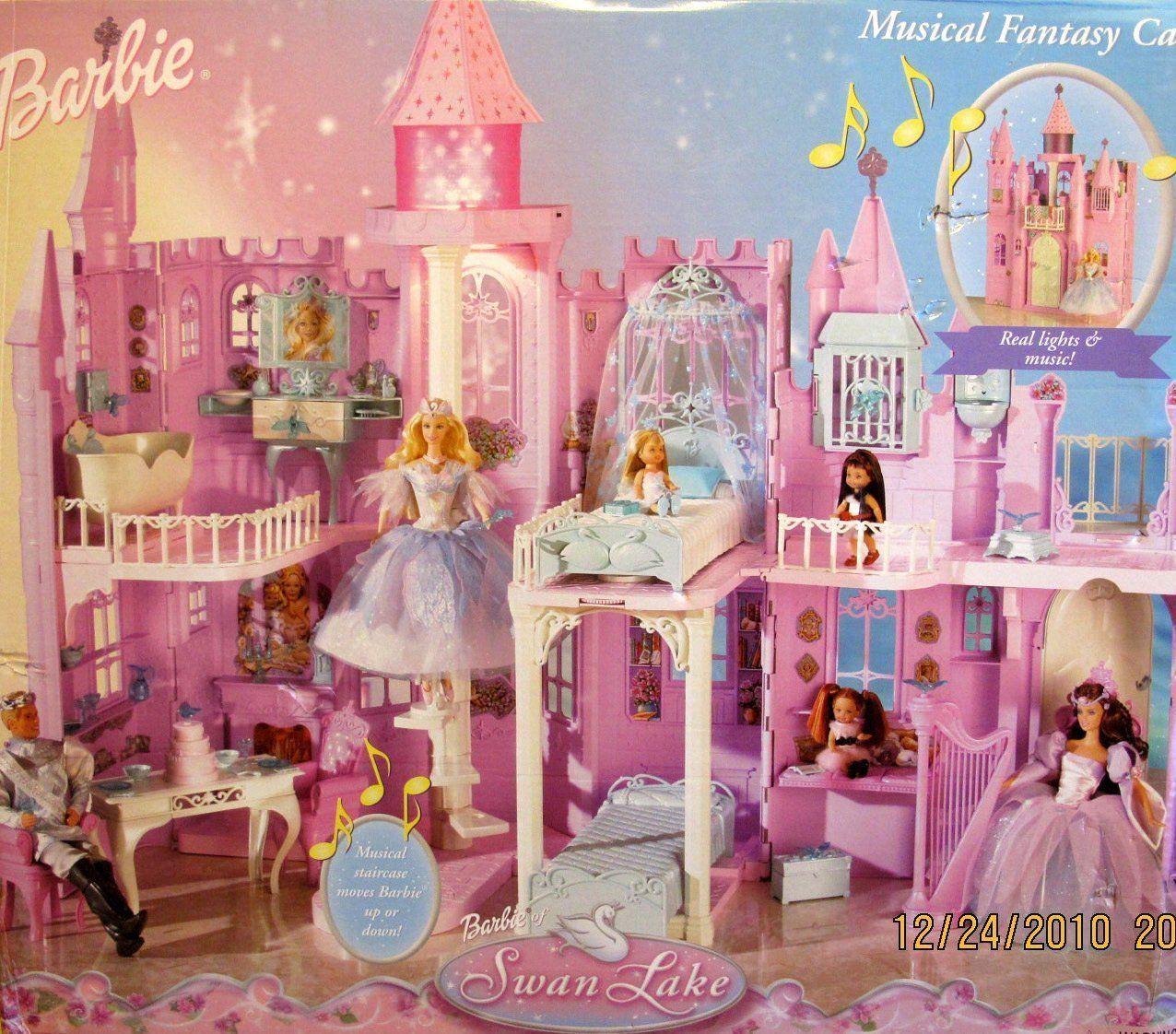 Amazon Com Barbie Of Swan Lake Musical Fantasy Castletm Playset