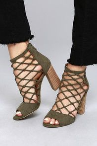 c6b250c6a63 We have fallen hard for the Steve Madden Cheers Tan Suede Leather High Heel  Sandals! Buttery