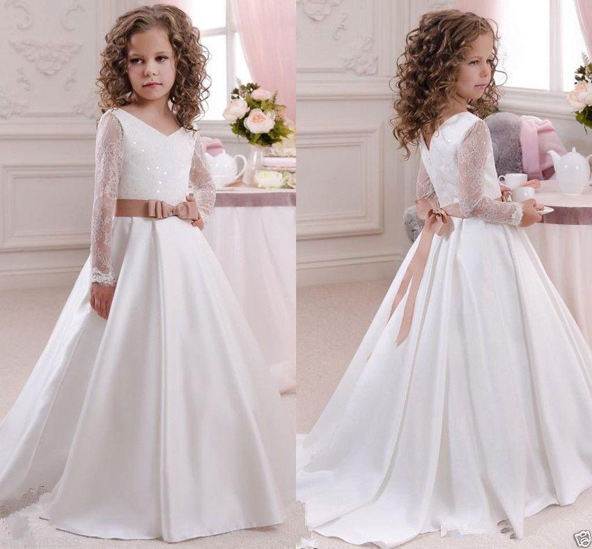 c9e4da7285c 2016 Robe de communion princesse fille mariage robe demoiselle d honneur  enfant in Vêtements