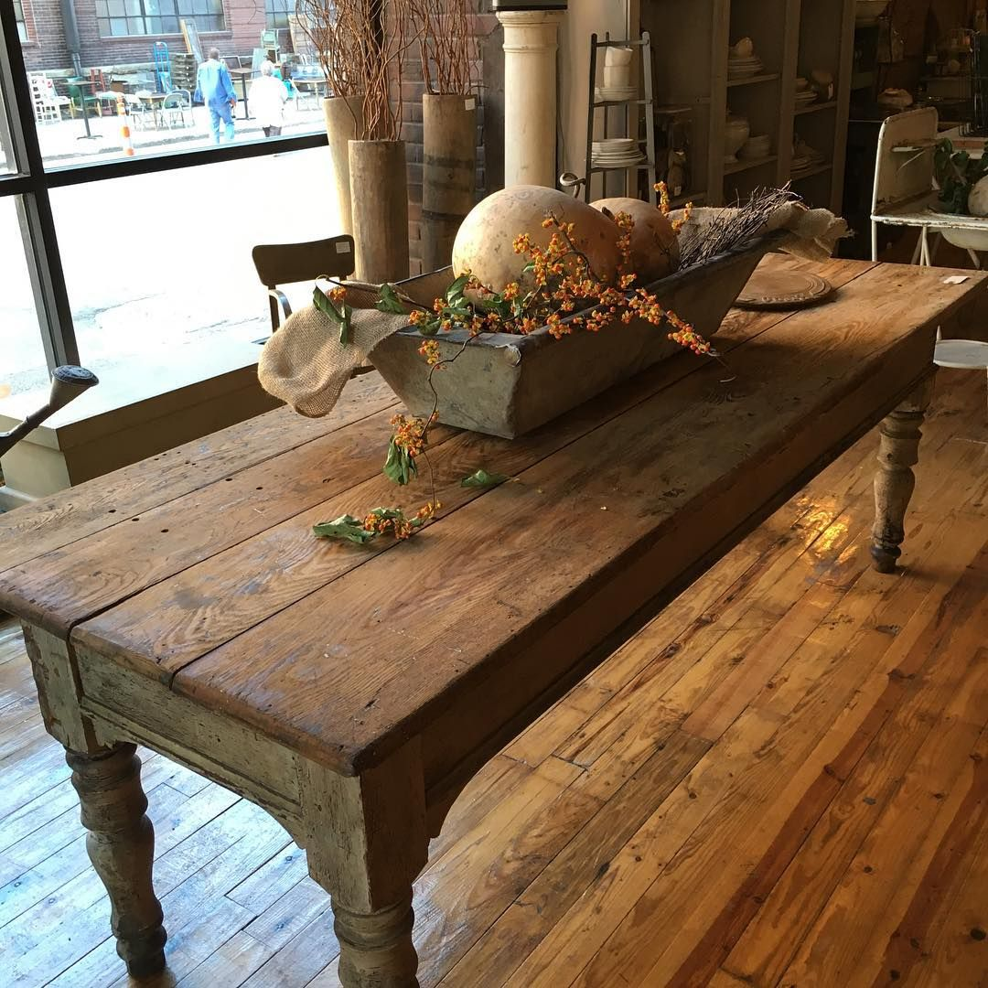 Farm Table Love Rustic farm table, Decorating coffee