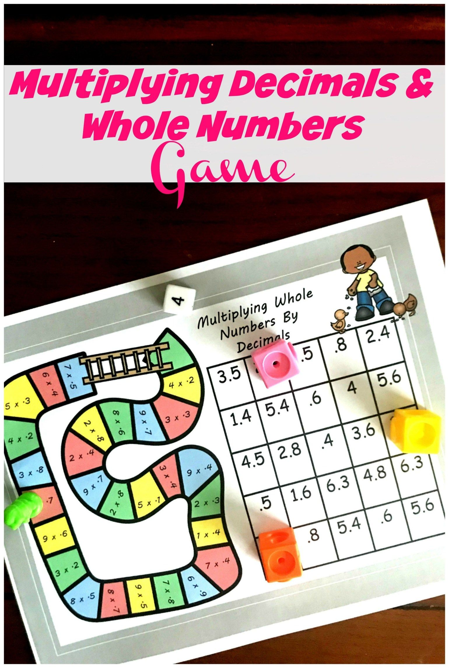 Free No Prep Game For Multiplying Decimals And Whole