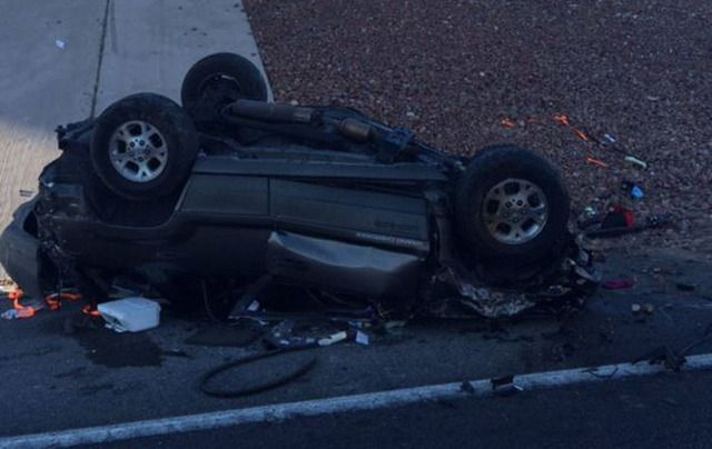 A fatal rollover crash Saturday morning has closed an exit ramp on Interstate 15 in Las Vegas, according to the Nevada Highway Patrol. About 7:30 a.m., the vehicle was traveling north on Interstate 15, going to Interstate 215 West, when it approached the onramp and went off to the left, trooper Jason Buratczuk said.