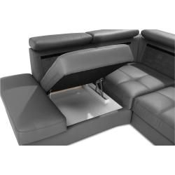 Photo of Stylefy Iness Ecksofa Struktur Artemis Silber