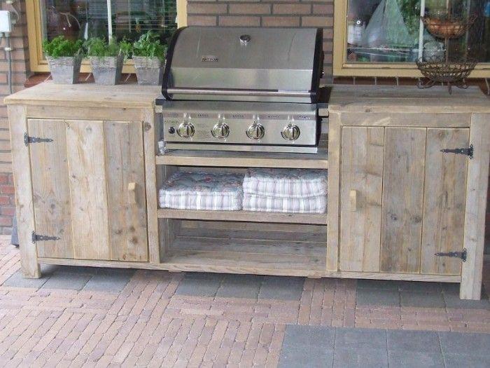 Houten Buiten Keuken : Steiger houten buitenkeuken steigerhout