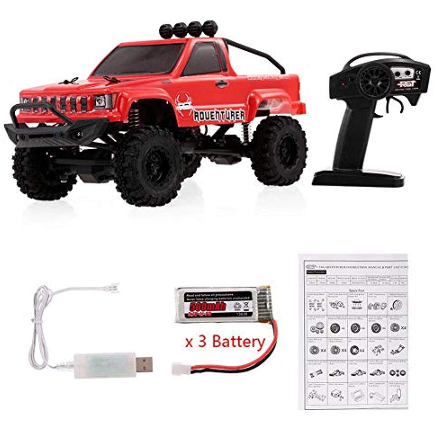 Jeep Epic Truck Rc Car Toy For Kids Ford Raptor F 150 Red With Rgt