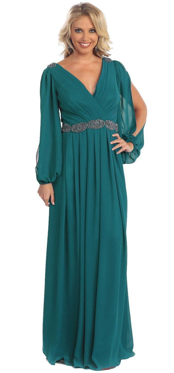 Long Sleeve Mother of the Bride Formal Plus Size Dress Groom | Fairy ...