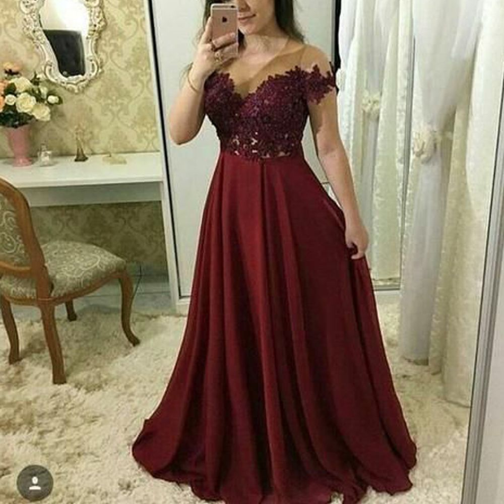 Lace Prom Dresses 2020 Prom Dresses Wine Red Prom Dresses Lace Evening Dresses A Line Prom Dresses Wine Red Evening Dresses Chiffon Prom Dresses Red Even In 2021 Burgundy Prom Dress [ 1000 x 1000 Pixel ]