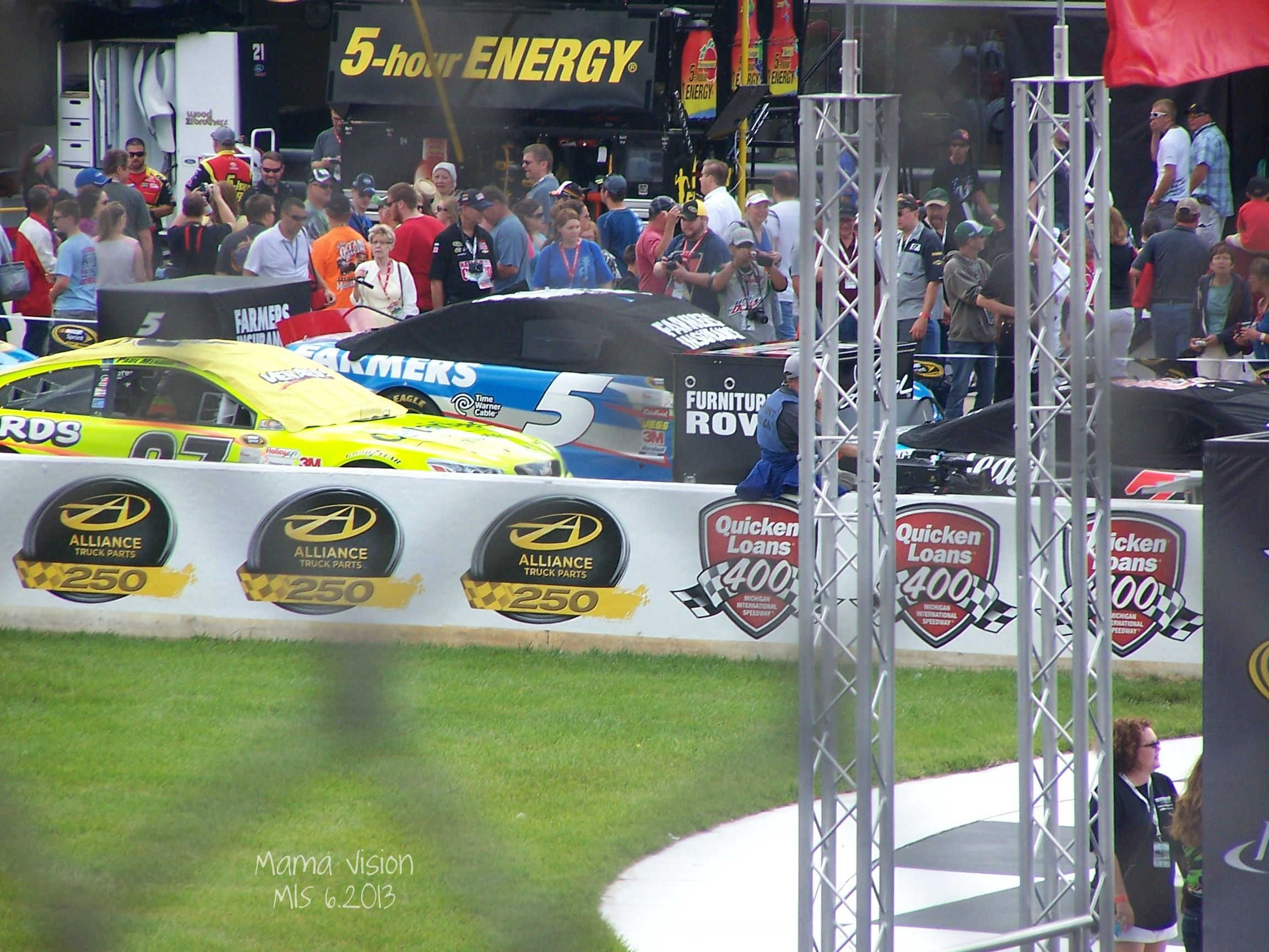 Kasey Kahne's car from my perspective!  Mama Vision Photography