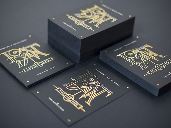 30 foil stamped business cards with glossy matte effect - Foil Stamped Business Cards