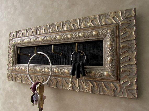 Antique Silver Key Holder Ornate Key Holder Wall Mounted Key Etsy Key Holder Wall Key Holder Wall Mounted Key Holder