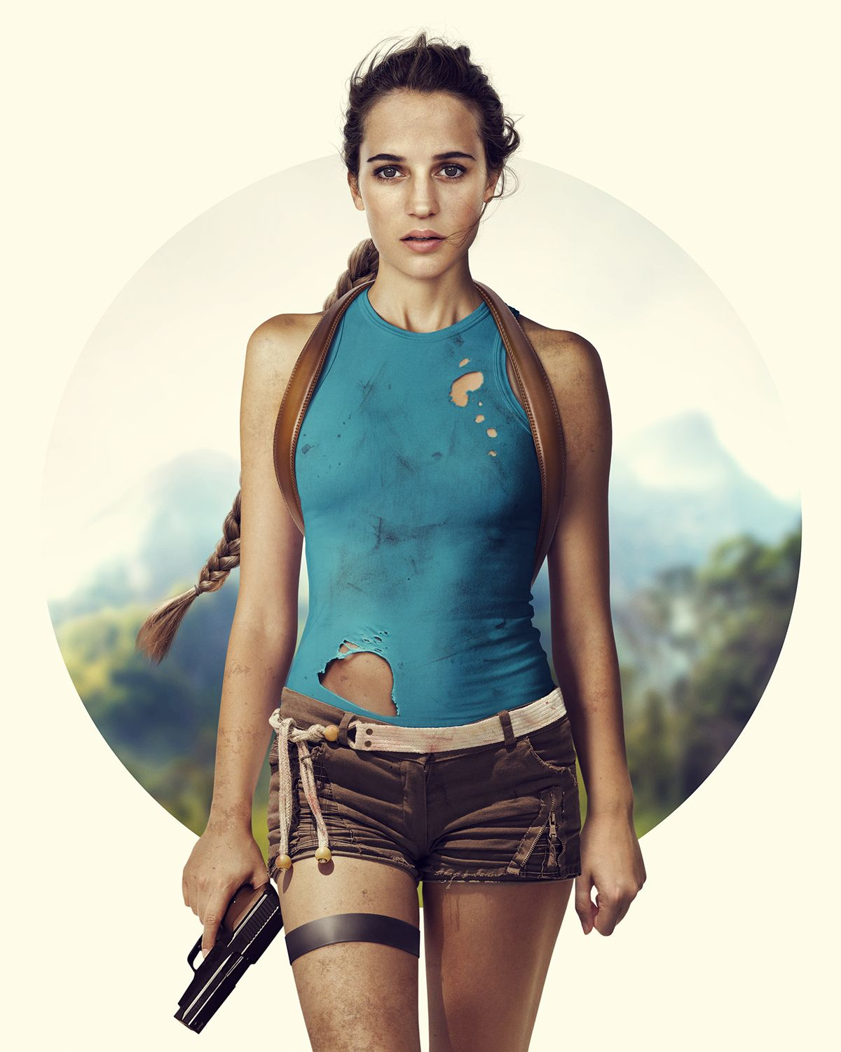 alicia vikander as lara croft cosplay uniformen. Black Bedroom Furniture Sets. Home Design Ideas