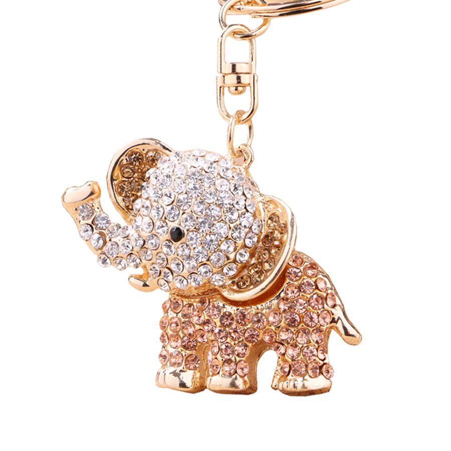 06a7f5bd5cc Chaveiro!Fashion Crystal Elephant Car KeyChain Alloy Key Chain Ring ...