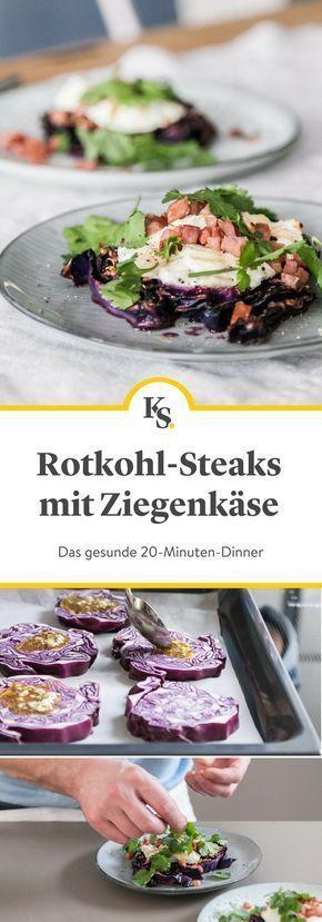 Gebackene Rotkohlsteaks mit Ziegenkäse #steakmarinaderecipes
