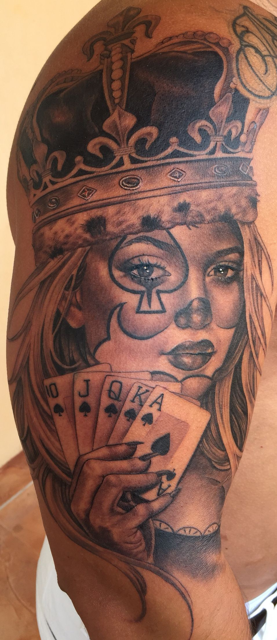 Baby portrait tattoo ideas - Queen Tattoo Ace Of Queens Tattoo Done By Tatu Baby