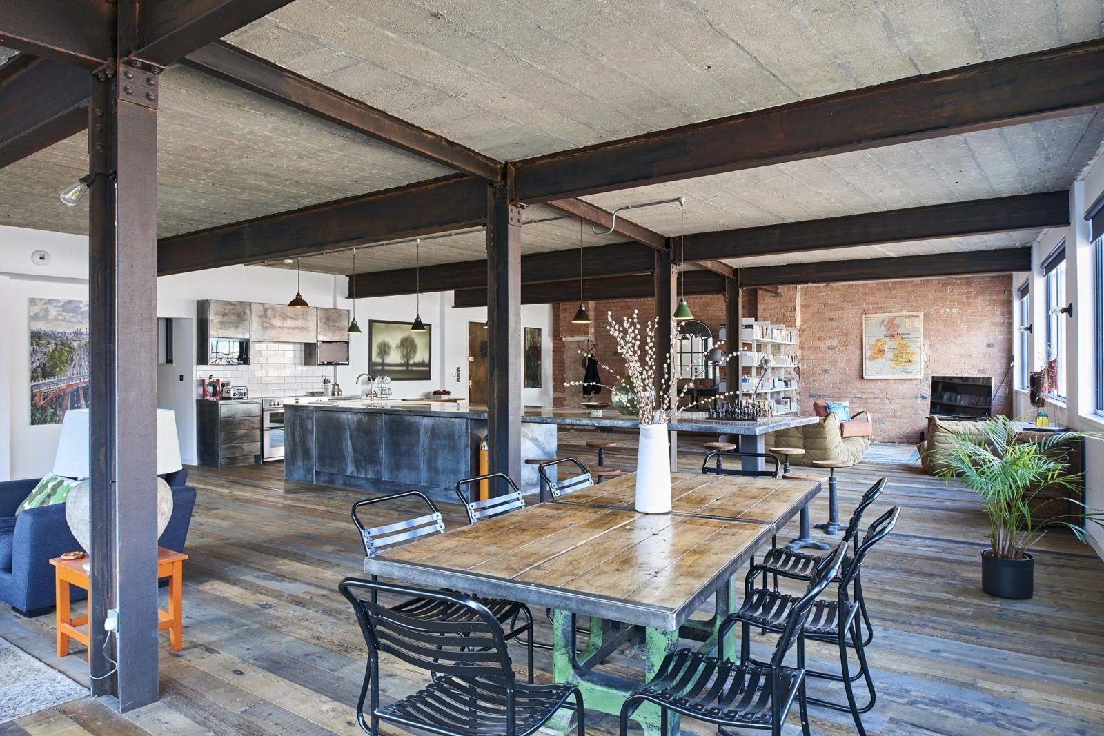 Un Loft Dans Un Entrepot Anglais Planete Deco A Homes World Studio Loft Design D Interieur Boutique Loft Moderne