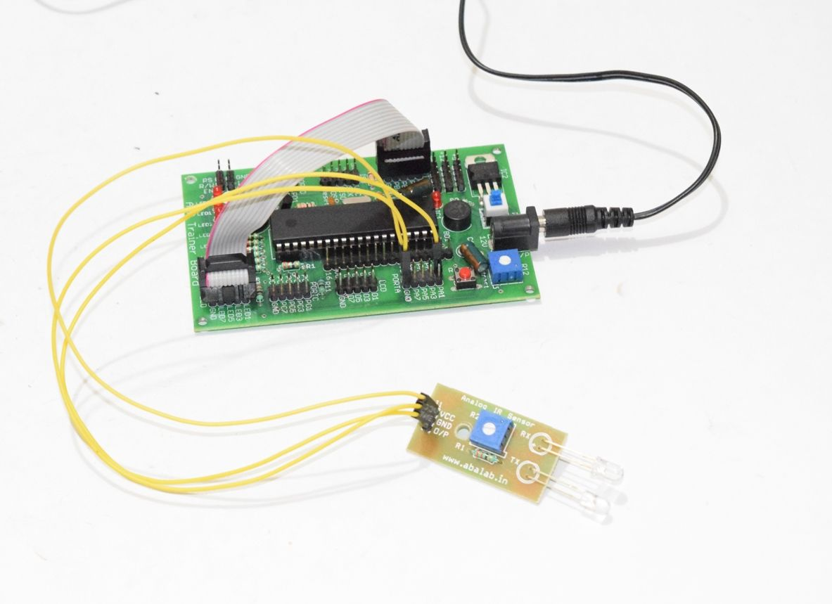 Analog Ir Sensor Interfacing With Avr Atmega32 Microcontroller And Pir Gsm Based Home Security System Using 8051 Led Display Connection Guide3