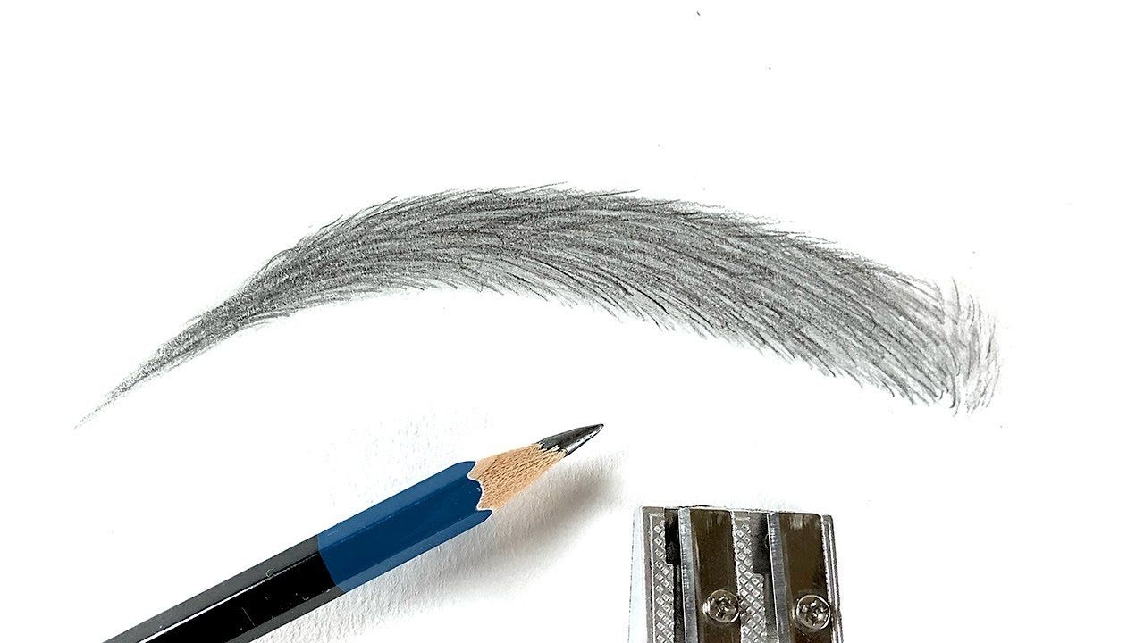 How To Draw Eyebrows    Step by Step    For Beginners ...