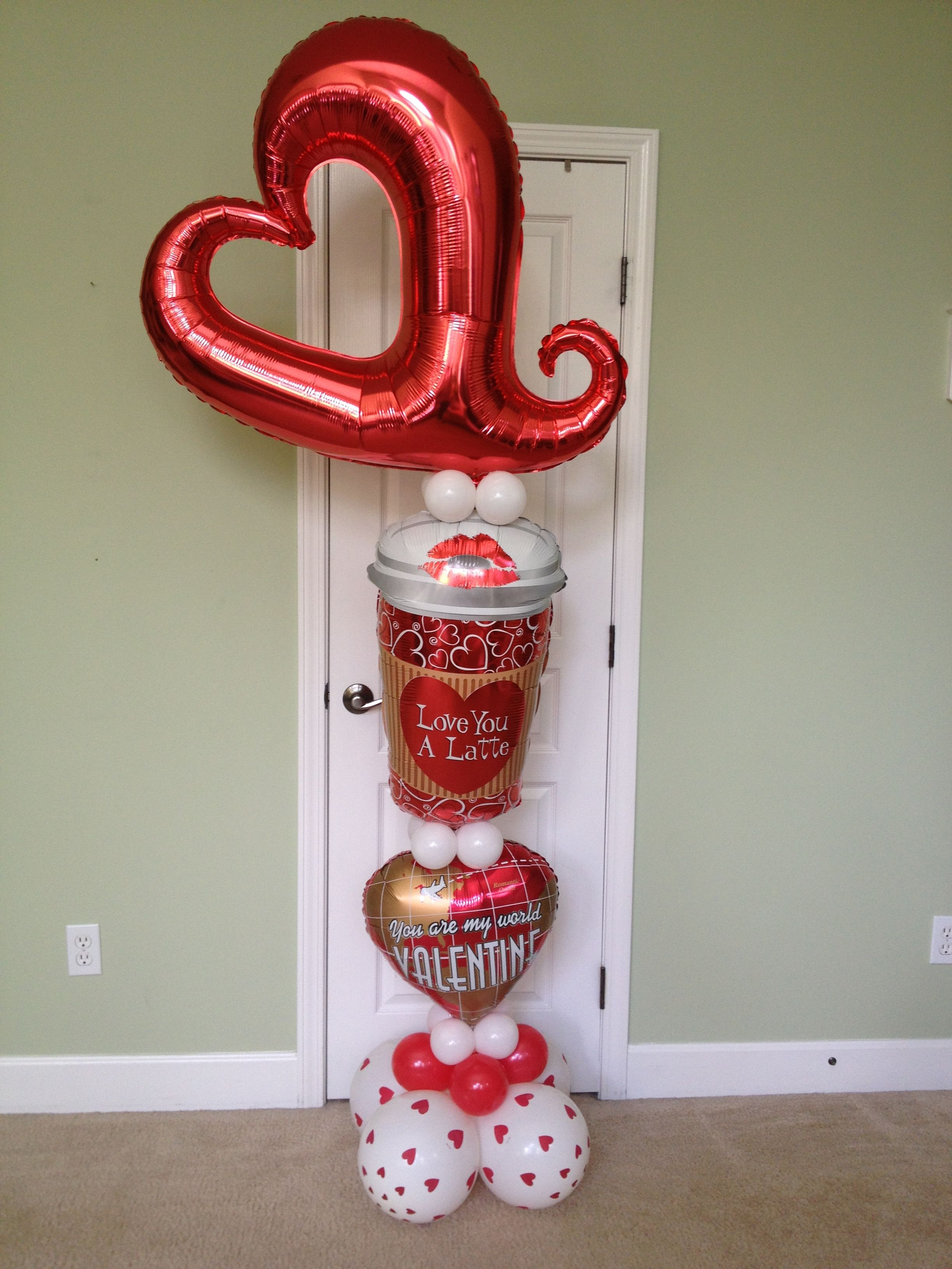 love you latte valentine balloon delivery | valentines day, Ideas