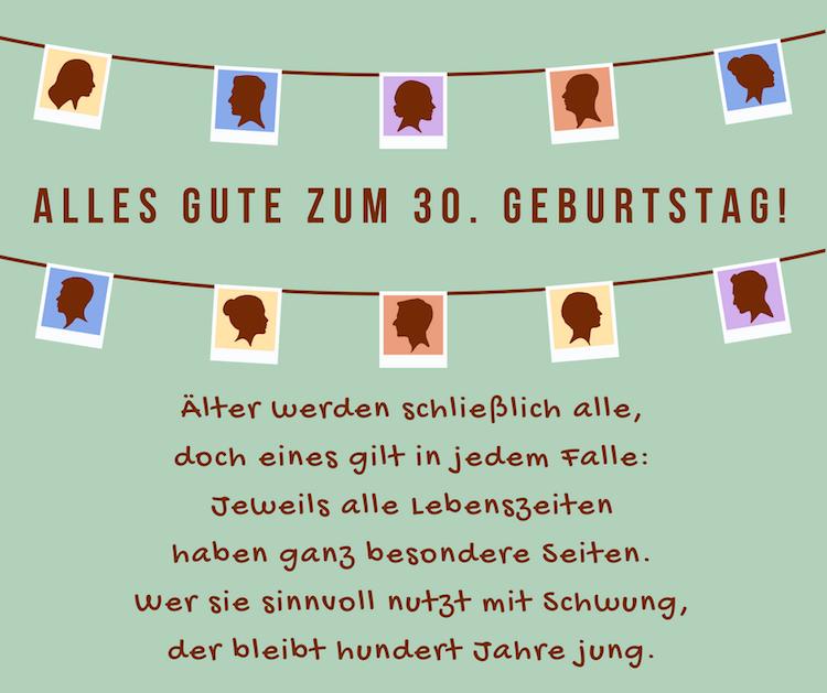 Geburtstagsspruche Und Zitate Jubilaum Gratulation Gluckwunsche 30