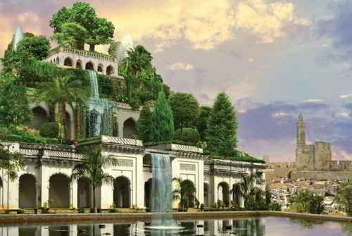 The Hanging Gardens Of Babylon Hangender Garten Antike