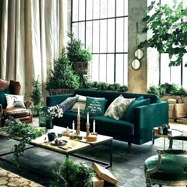 Dark Green Sofa That Home Interior Design Ideas In 2020 Green Sofa Living Dark Green Living Room Green Sofa Living Room