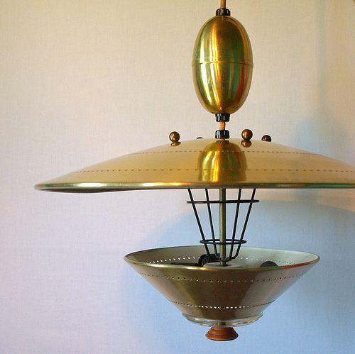 ufo pendant lighting vintage atomic flying saucer pull down