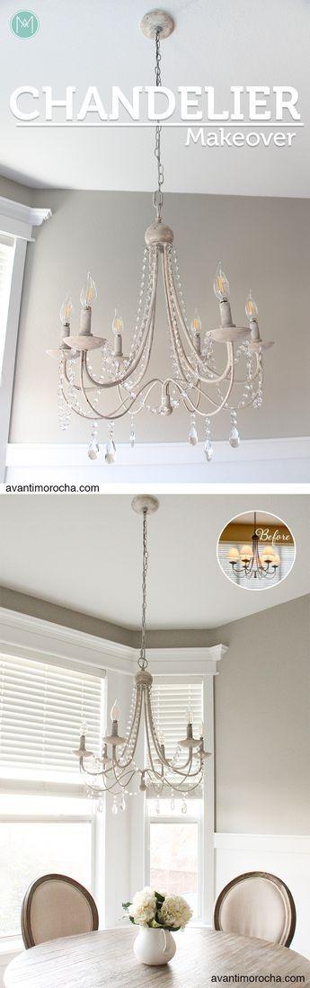 Diy chandelier makeover araa de luces crystal home decor diy chandelier makeover araa de luces crystal aloadofball Image collections