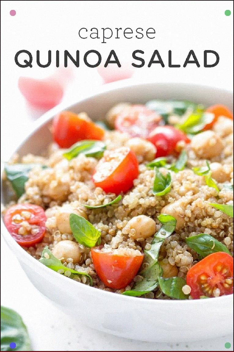 This Caprese Quinoa Salad Tastes Just Like The Classic But With A Healthy Twist Vegan, Gluten-Free