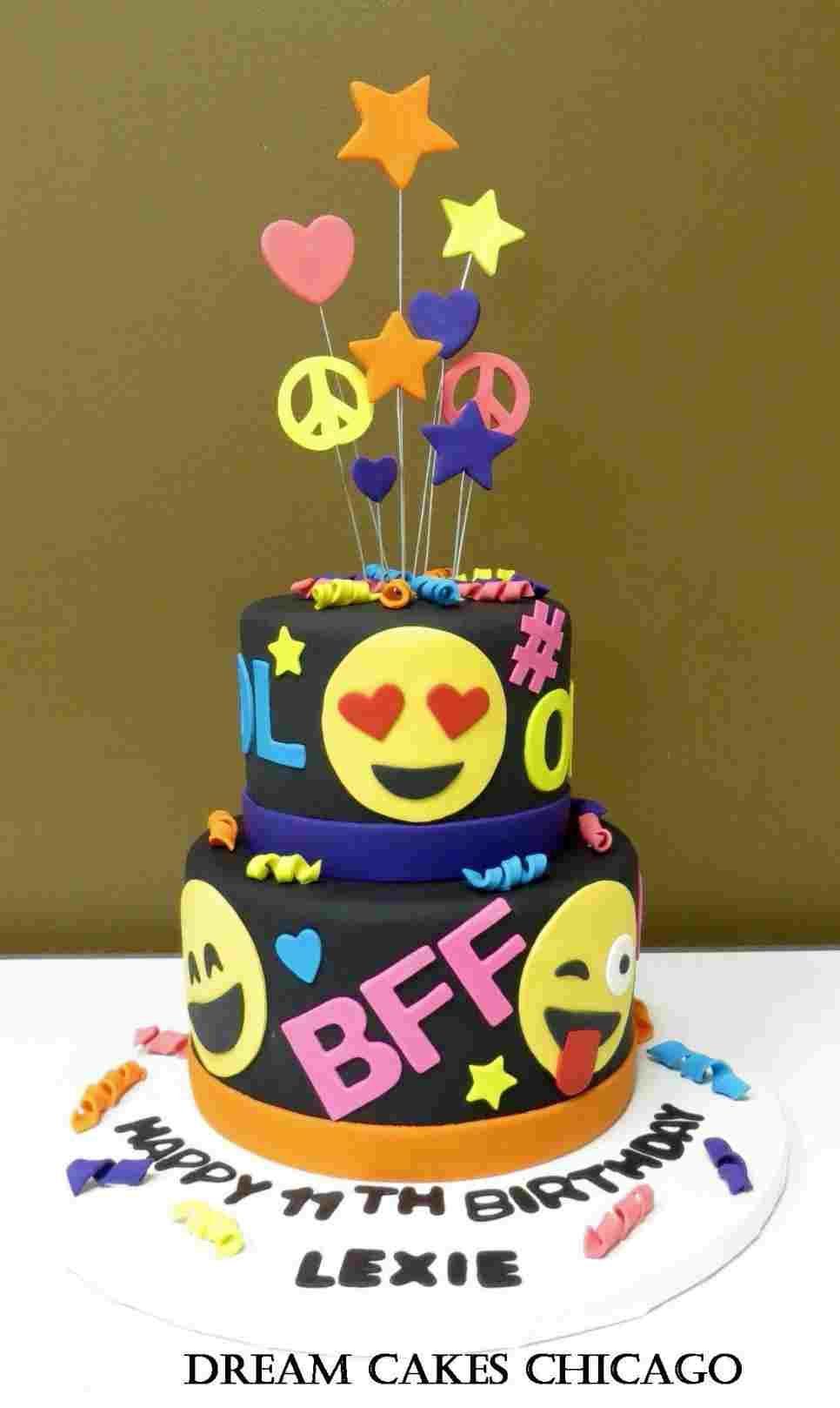 Image Emoji Birthday Cupcake Ideas