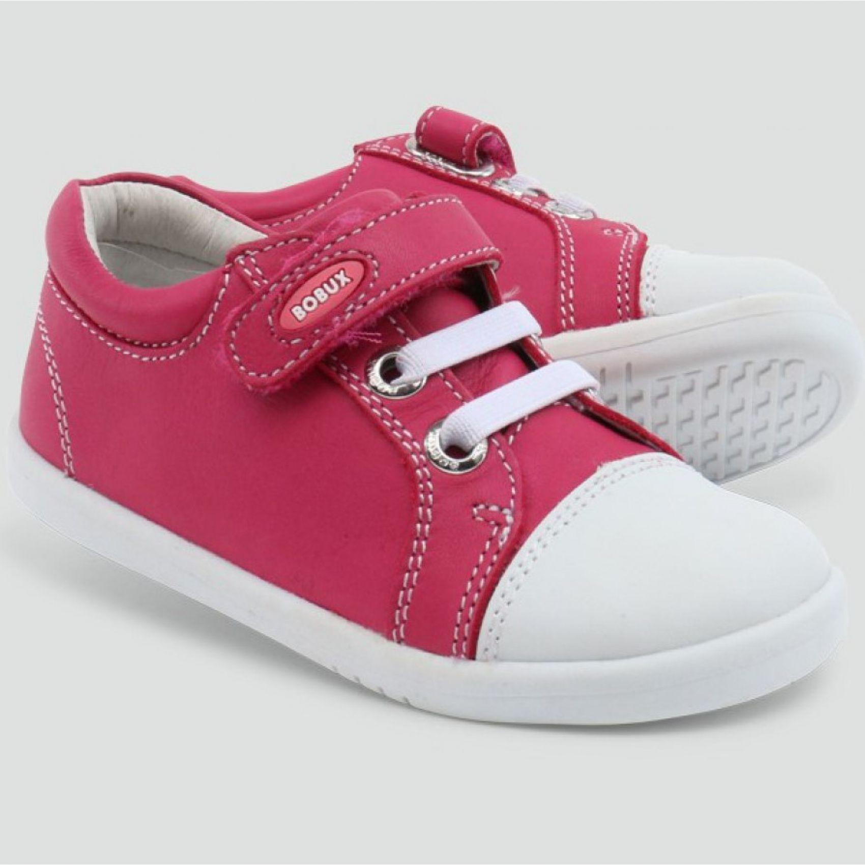 Zlote Polbuty Bobux 627311 Classic Trouble Fuchsia 627311 Polbuty Buty Dla Chlopca Baby Shoes Wedge Sneaker Shoes
