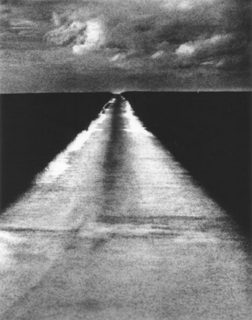 edward dimsdale - road, horizon, sky, autumn, 2000.