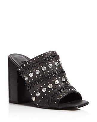 SENSO Niko Embellished High-Heel Slide Sandals tucRySl