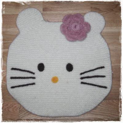 Randi's lille hobbyverden: Hello Kitty sitteunderlag